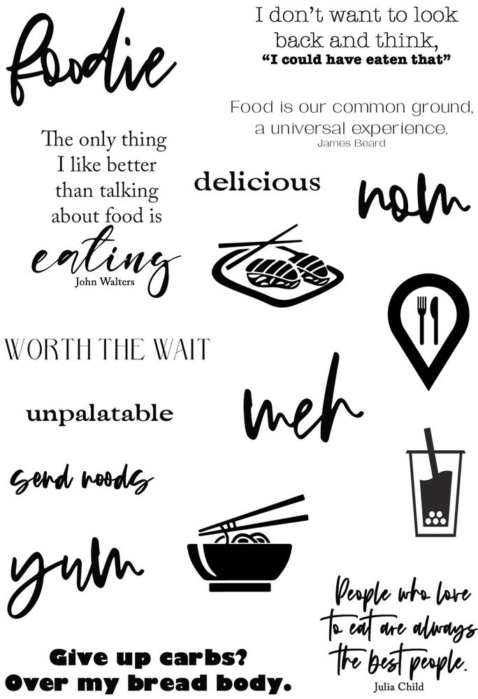 Image of Foodie Stamp Set