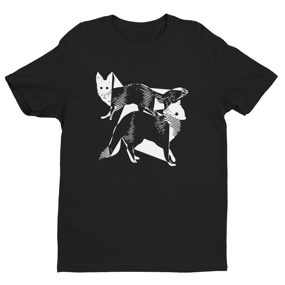 Image of Fractal Foxes - Black Tee