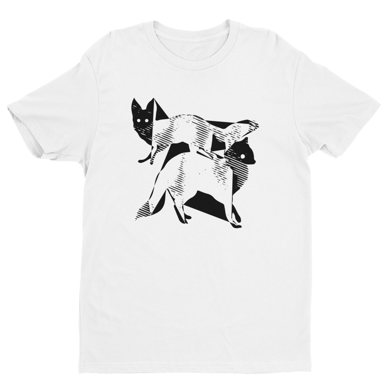 Image of Fractal Foxes - White Tee