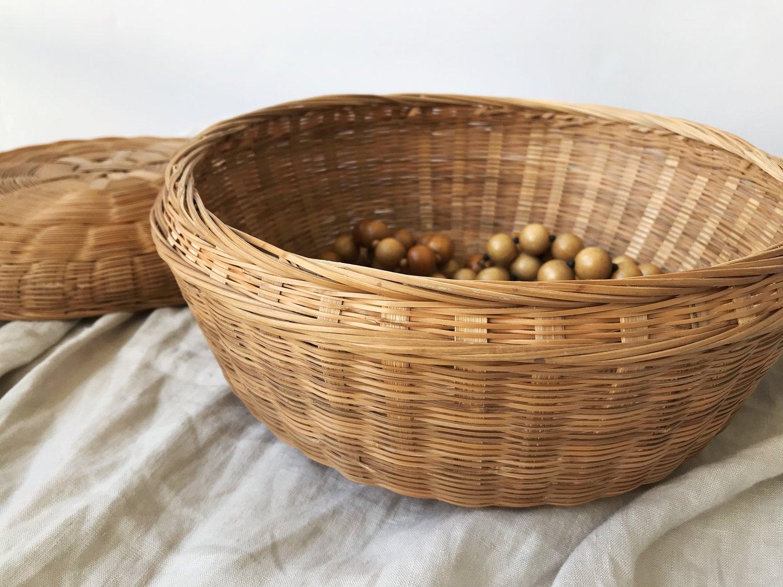Image of Vintage Basket with Lid