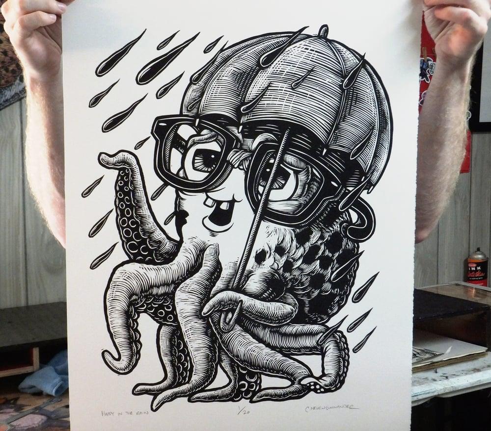 Image of Happy in the Rain Print