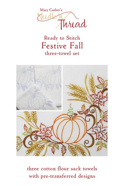 Image of Ready To Stitch Festive Fall Towel Set