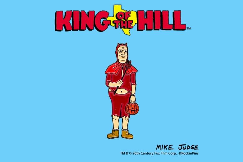 Image of King of the Hill - Hank Hill Devil Enamel Pin