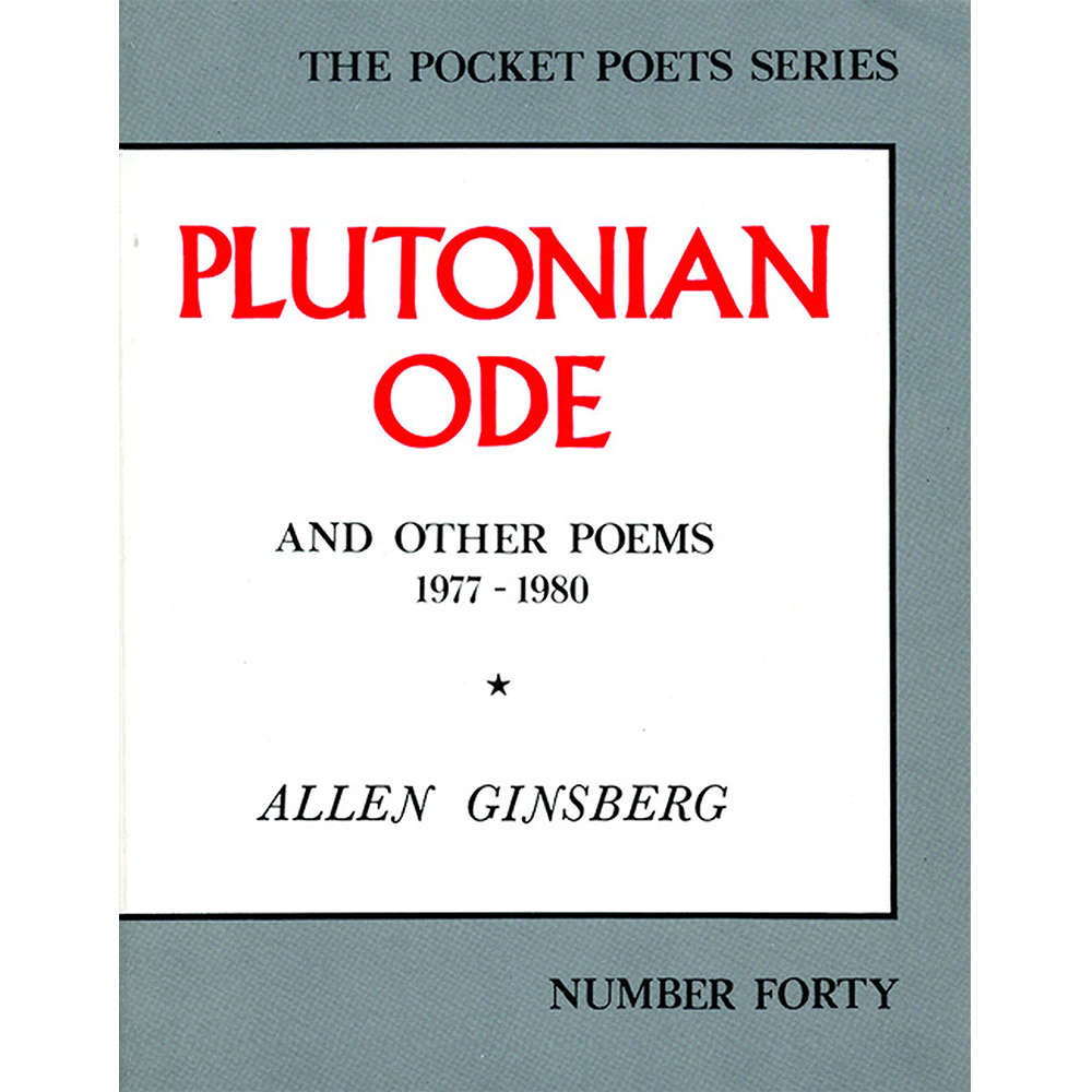 Image of Allen Ginsberg - Plutonian Ode and Other Poems 1977-1980