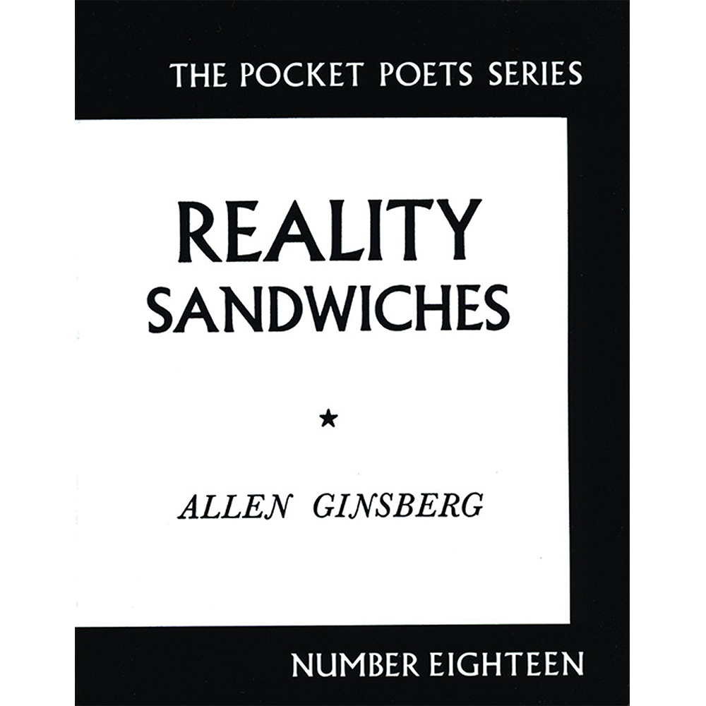 Image of Allen Ginsberg - Reality Sandwiches