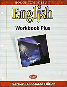 Image of Teacher's Annotated Edition  Grade 6 Houghton Mifflin English: Workbook Plus