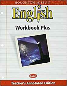 Image of Teacher's Annotated Edition  Grade 6 Houghton Mifflin English: Workbook Plus