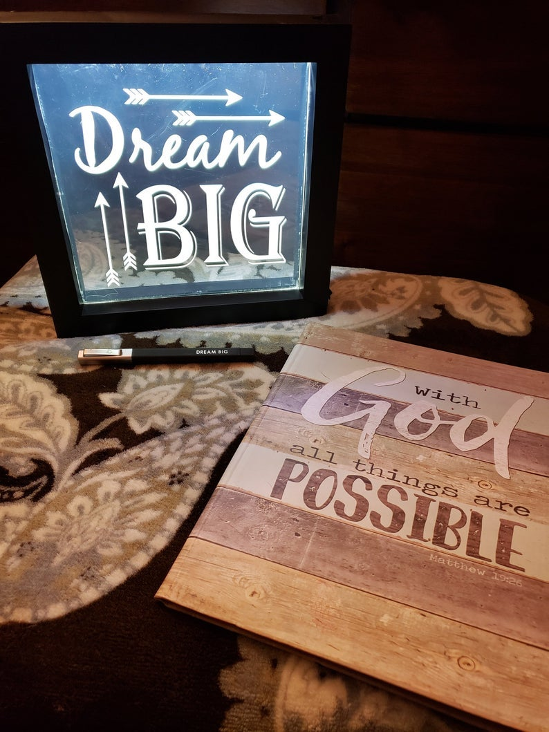 Image of With God Everything is Possible    Gratitude Notebook   Daily Journal   Gratitude journal
