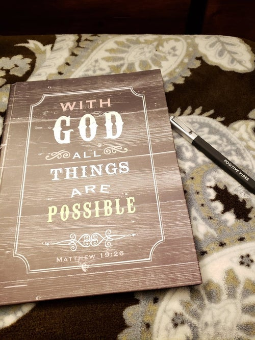 Image of With God Journal Everyday Journal   Gratitude Notebook   Daily Journal   Gratitude journal