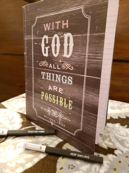 Image of With God Journal Everyday Journal | Gratitude Notebook | Daily Journal | Gratitude journal
