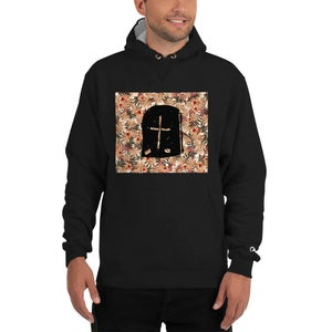 Image of ORANGE FLORAL HOODIE
