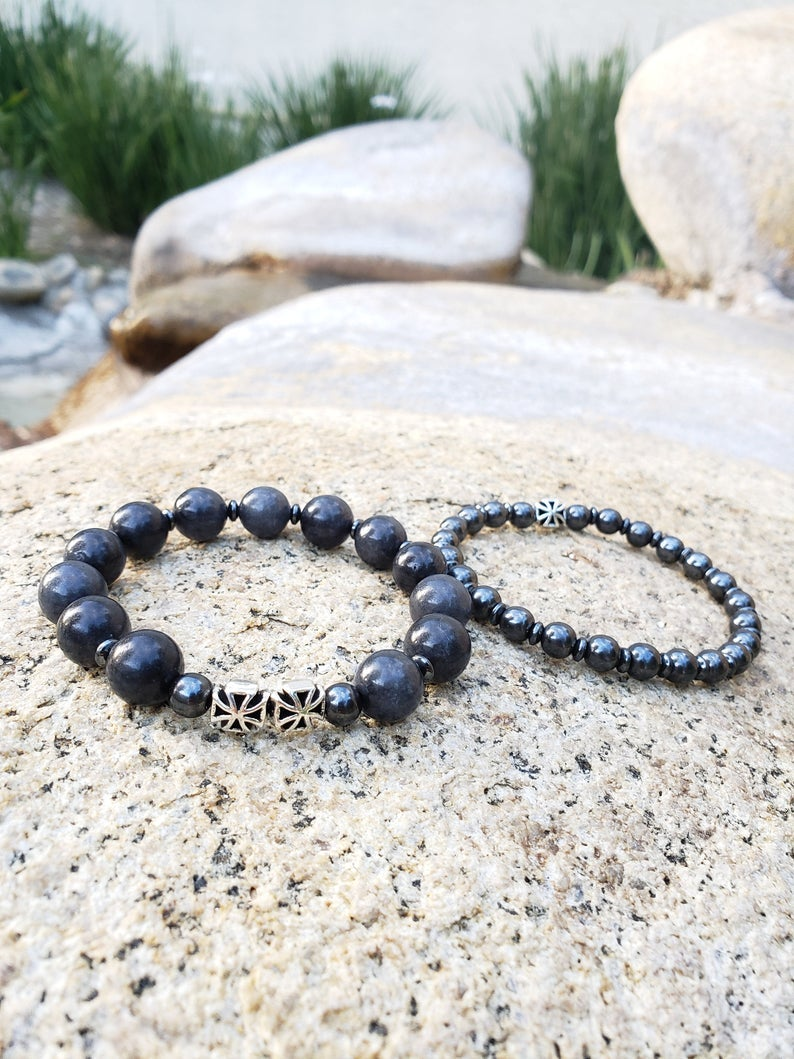 Image of Energy Protection Bracelet | Black Jade | Hematite