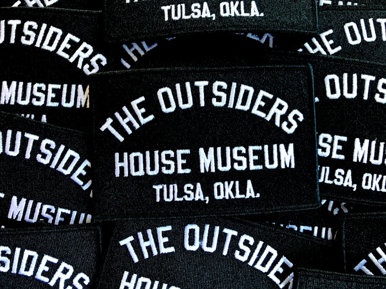 Image of The Outsiders House Museum Block Lettering Patch