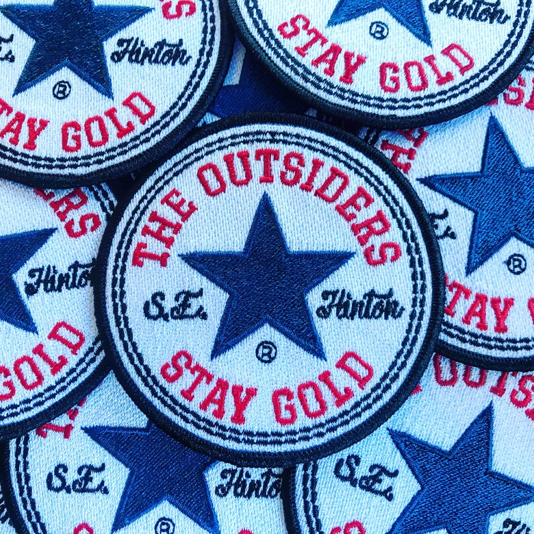 Image of The Outsiders Stay Gold S.E. Hinton Circular Patch
