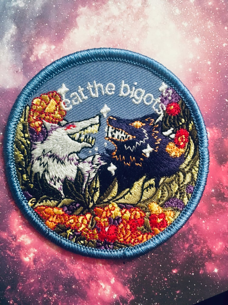 Image of EAT THE BIGOTS patch