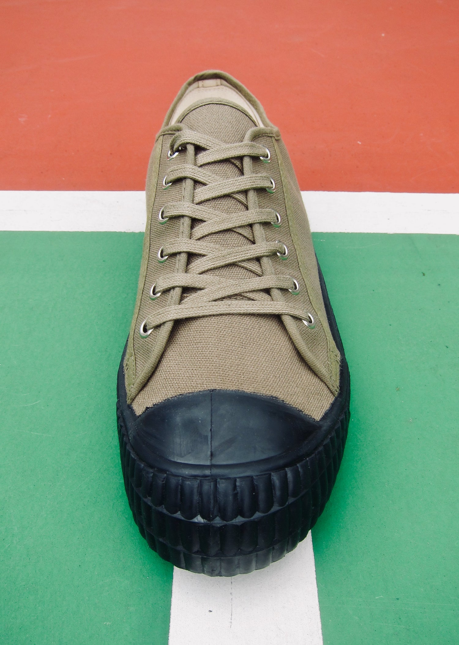 Image of ZDA heritage army trainer lo canvas sneaker shoes made in Slovakia
