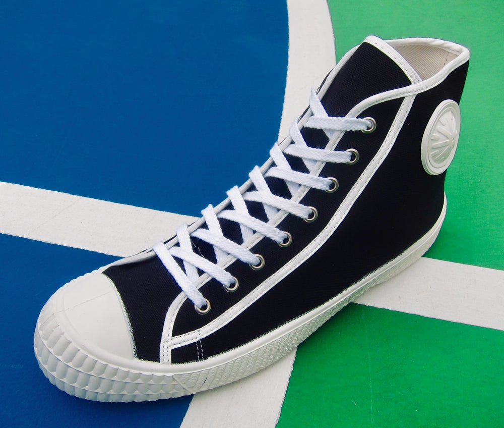 Image of ZDA vintage trainer canvas hi sneaker shoes made in Slovakia