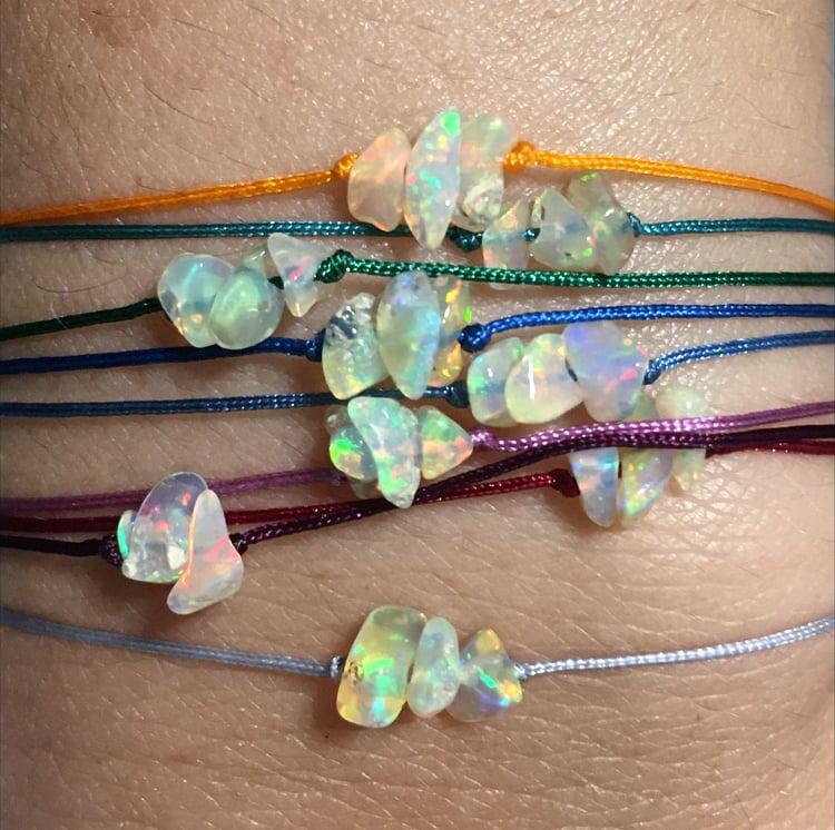 Image of Free form opal bracelet