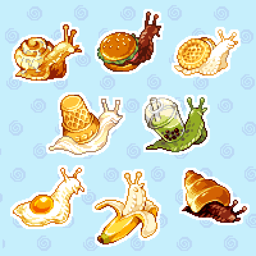 Image of Snail Food sticker sheet