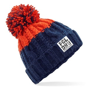 Image of RED TIP CHUNKY BOBBLE HAT