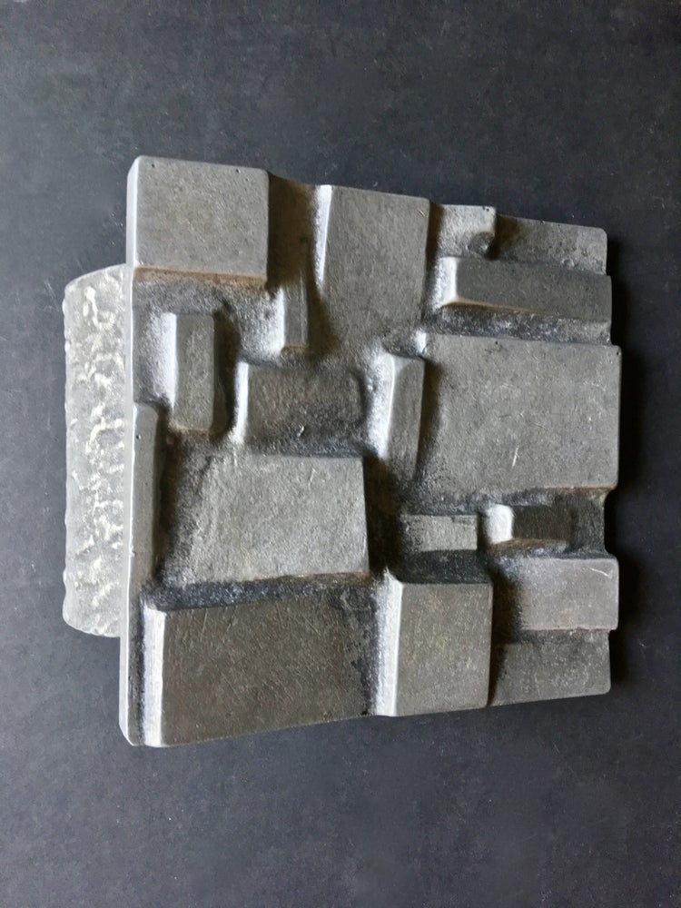 Image of Brutalist Aluminium Door Handle, Mid-20th Century European