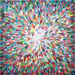 Image of Sanctus universum V - 101x101cm