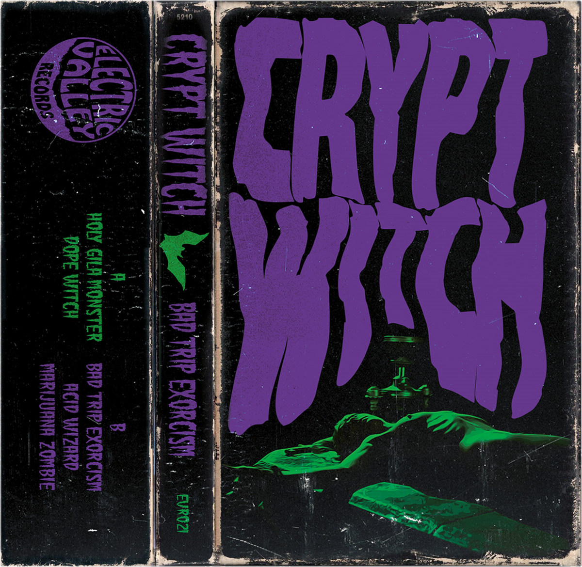 Image of CRYPT WITCH - BAD TRIP EXORCISM Cassette