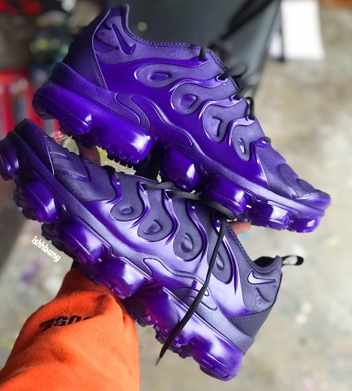 Custom VaporMax Plus Purple Customized