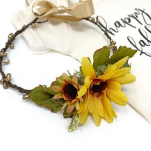 Image of Sunflower Halo Crown (Ready to Ship)