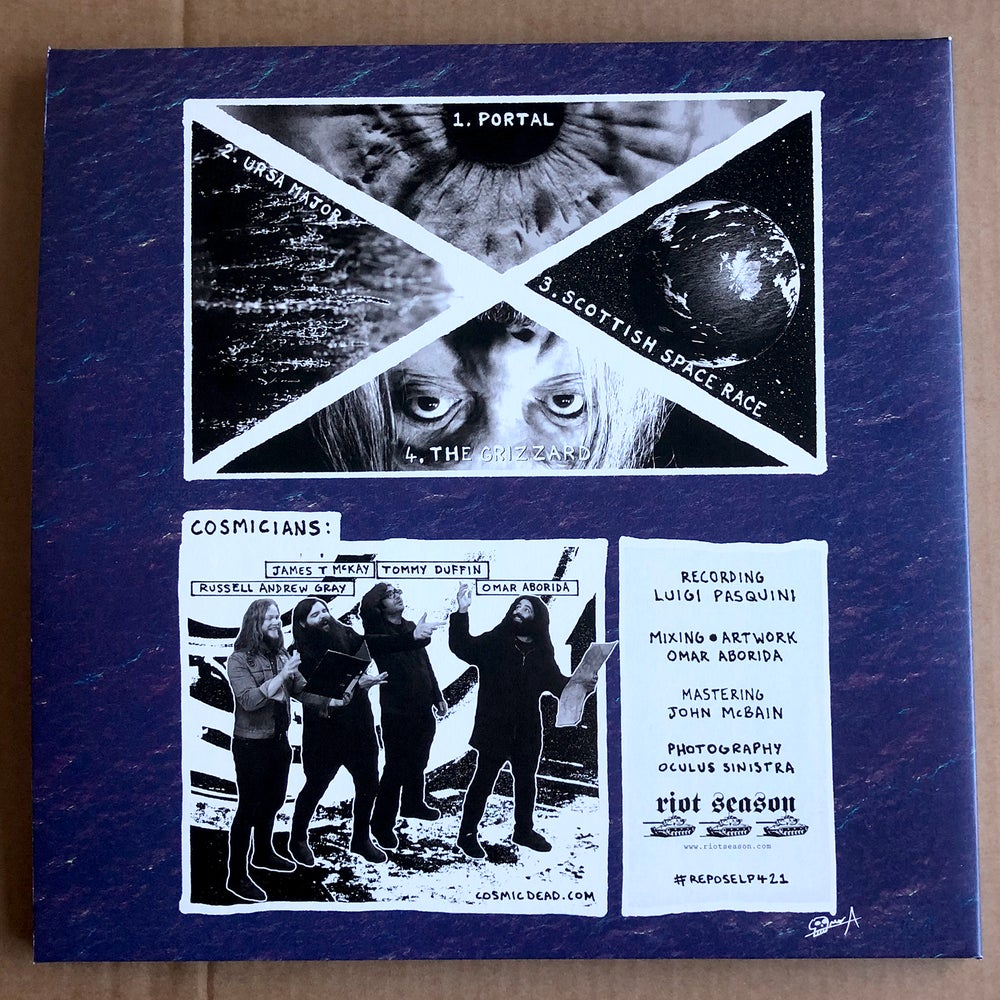 THE COSMIC DEAD 'Scottish Space Race' Purple 2xLP