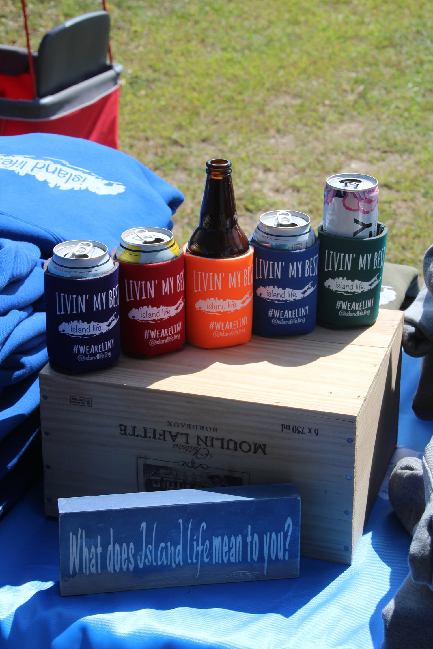 Image of LIVIN' MY BEST ISLAND LIFE - Coozies