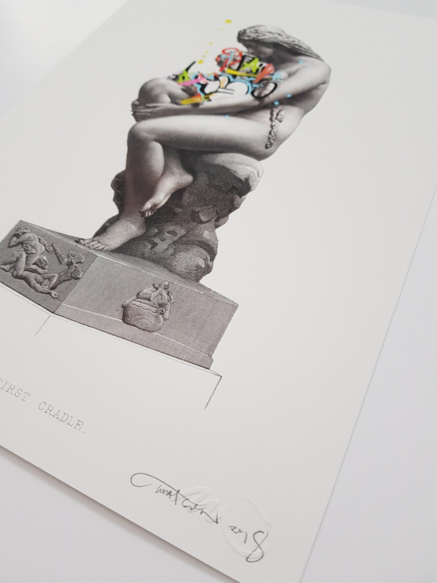 Image of MARTIN WHATSON - THE FIRST CRADLE - 35CM X 25CM - HAND FINISHED LTD ED 50 EACH UNIQUE