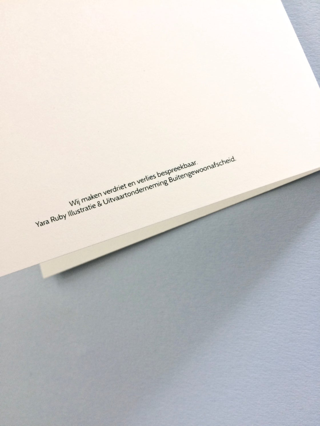 Image of Sisters | Mourning Card + Envelop