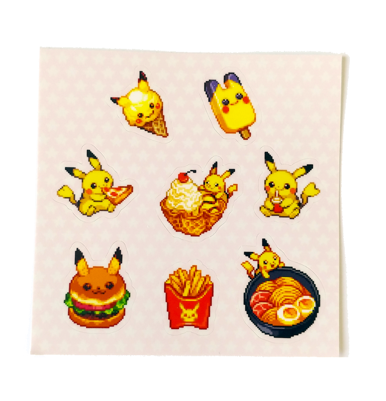 Image of Pikachu Food sticker sheet