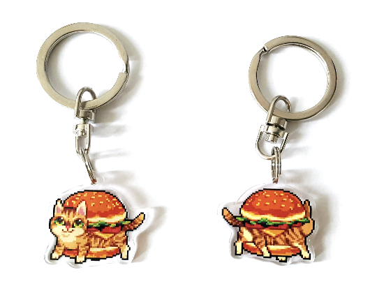Image of Cat Burger Keychain