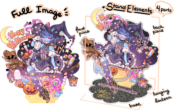 Image of PRE-ORDER JESTER HALLOWEEN ACRYLIC STAND