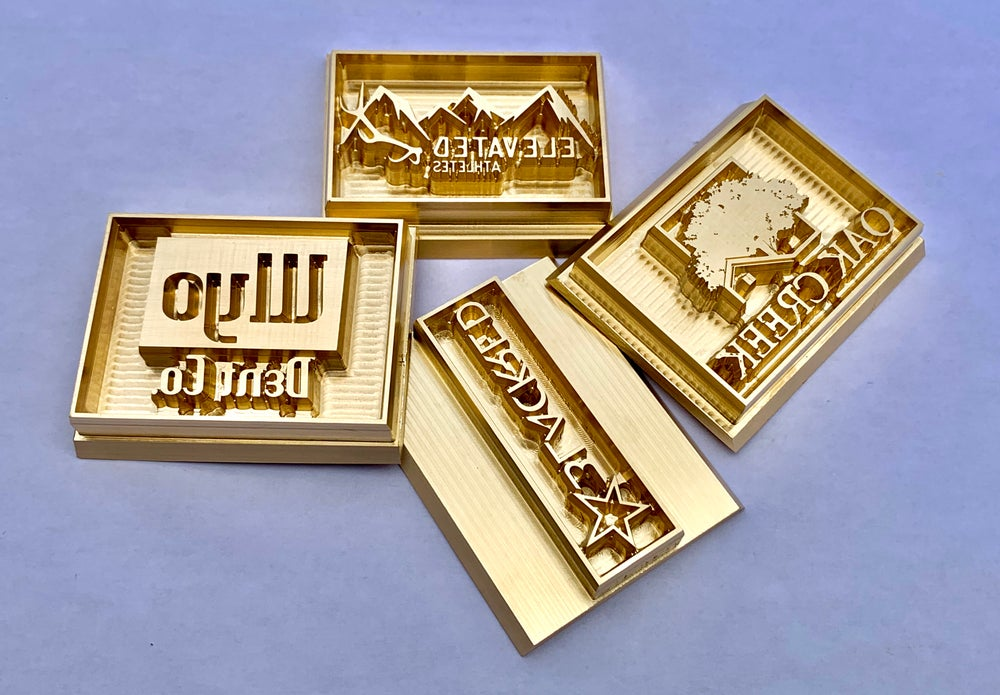 Leather embossing cold stamps