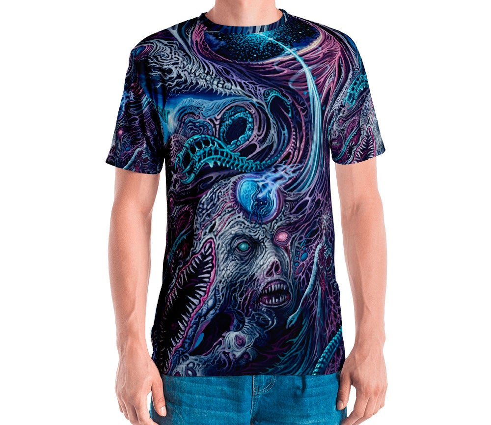 Image of Cosmic Horrors all over print shirt by Mark Cooper Art