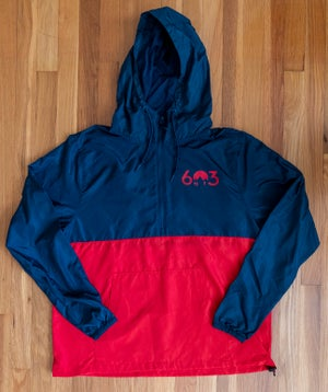 Image of 603 windbreaker - red/navy