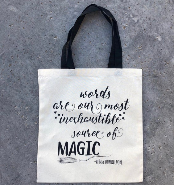 Image of Add on: Words Are Magic Tote Bag