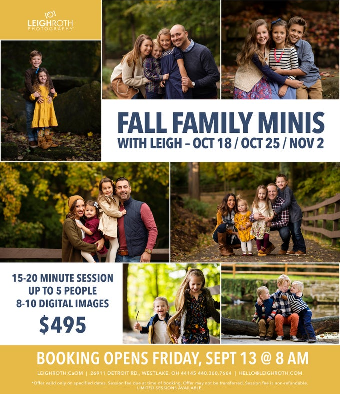 Image of FALL FAMILY MINI SESSIONS WITH LEIGH