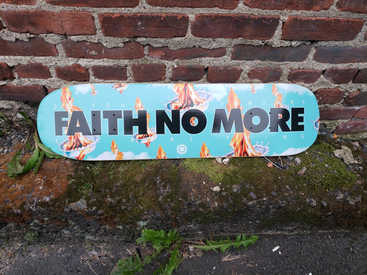 Image of HORIZONTAL CLASSIC OG FAITH NO MORE SKATEBOARD DECK EPIC MODEL