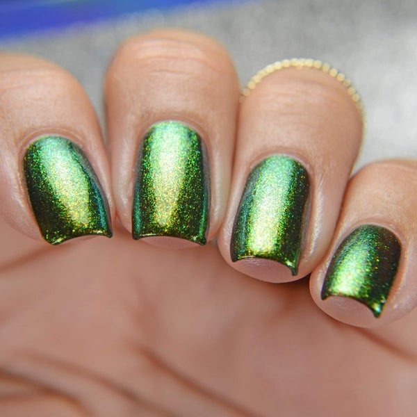 Image of Goblin Gold – olive green base that moves strongly to green and gold
