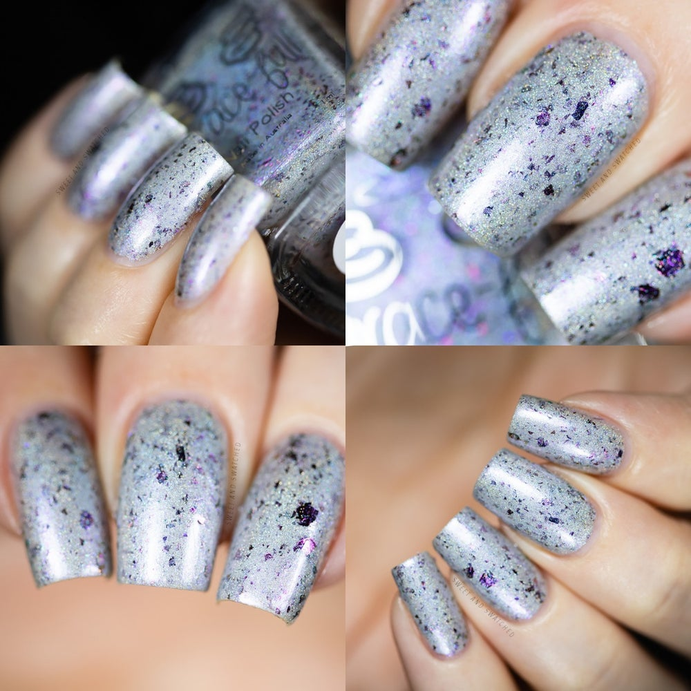 Image of Pensieve – silver holo with blue aurora shimmer and UCC flakies