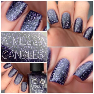 Image of A Million Candles – deep blurple jelly base with silver holo flakes