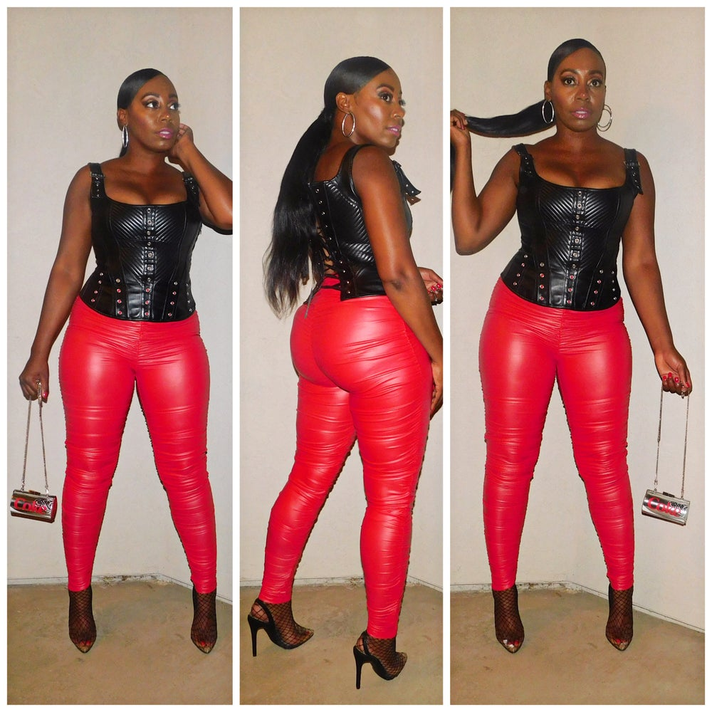 Image of LUXY LEATHER PANTS (Red)