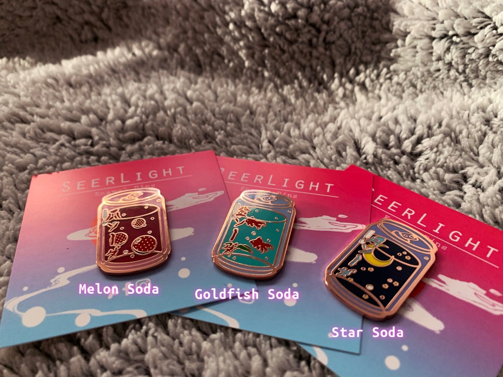 Image of LoFi Sodas Enamel Pin Series