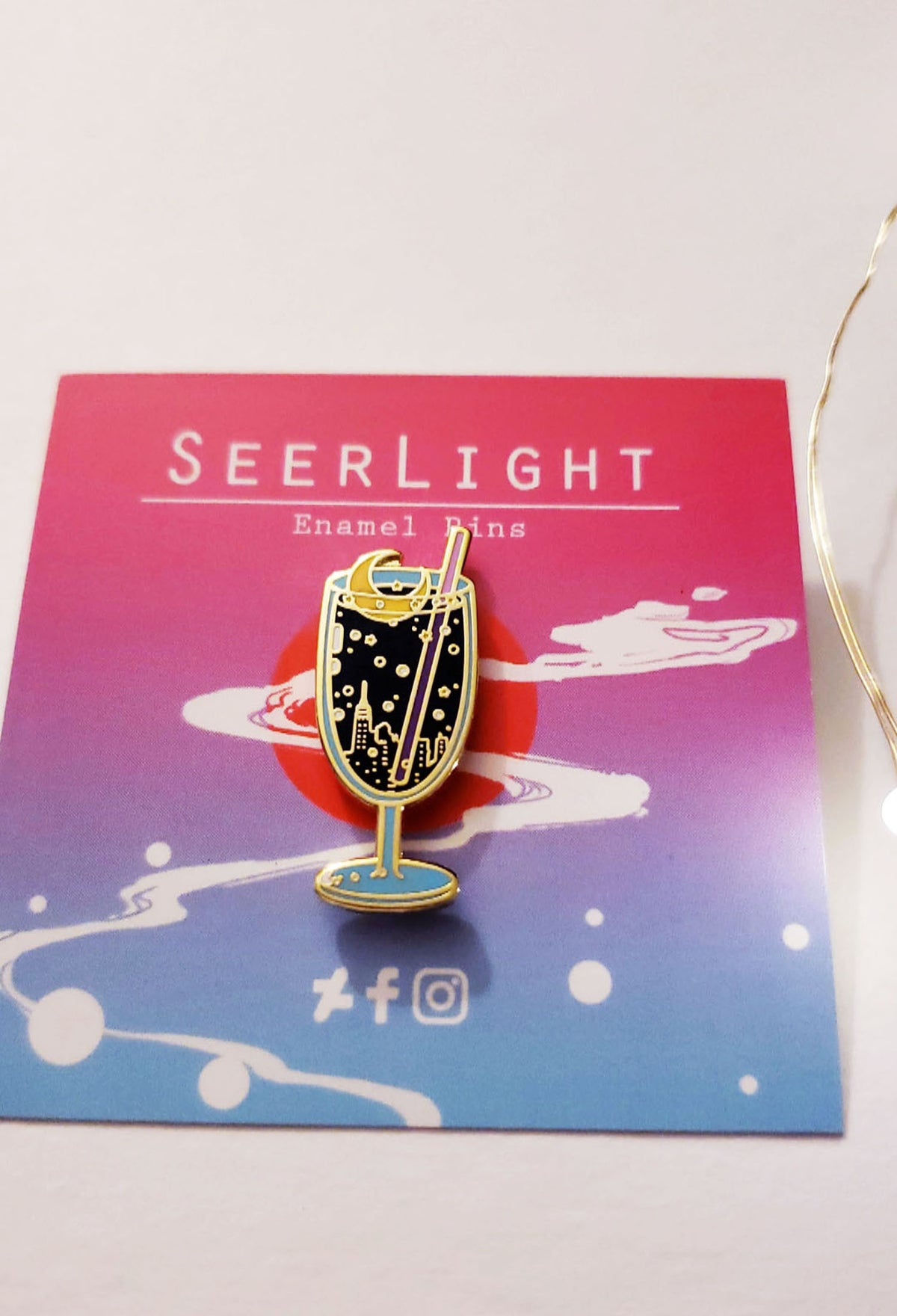 Image of Moon Soda Enamel Pin