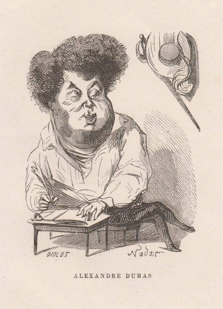 Image of Nadar: caricature of Alexandre Dumas père, ca. 1860