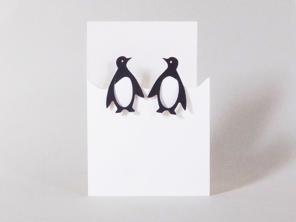 Image of 2 x Penguin Bookmarks Card
